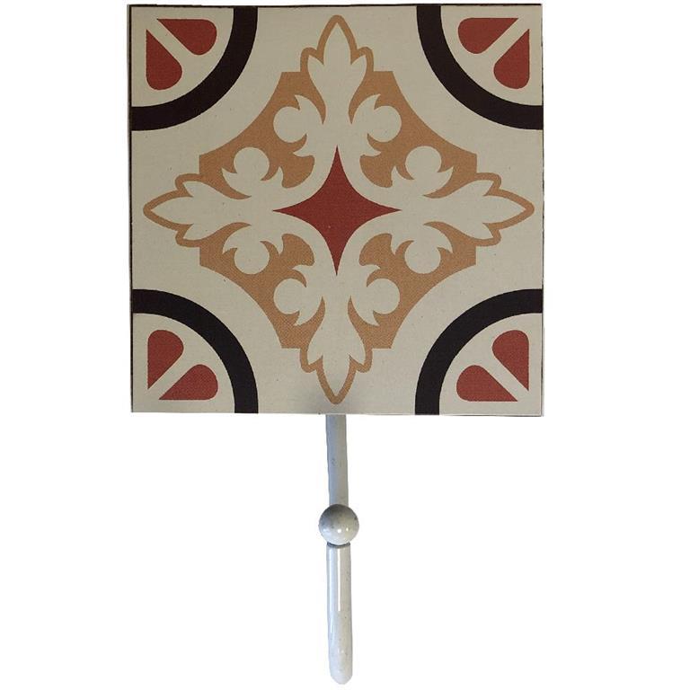 Petit porte torchons en bois à suspendre beige H16cm