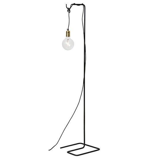 Lampadaire Theo noir avec cable noir  - Watt & Veke
