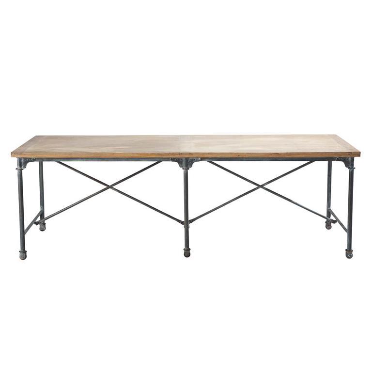 Table à manger en manguier et métal 8/10 personnes L240 Archibald