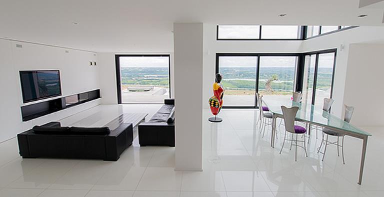 Carrelage sejour design s jour blanc concept cr ation photo n 43 domozoom - Carrelage sejour design ...