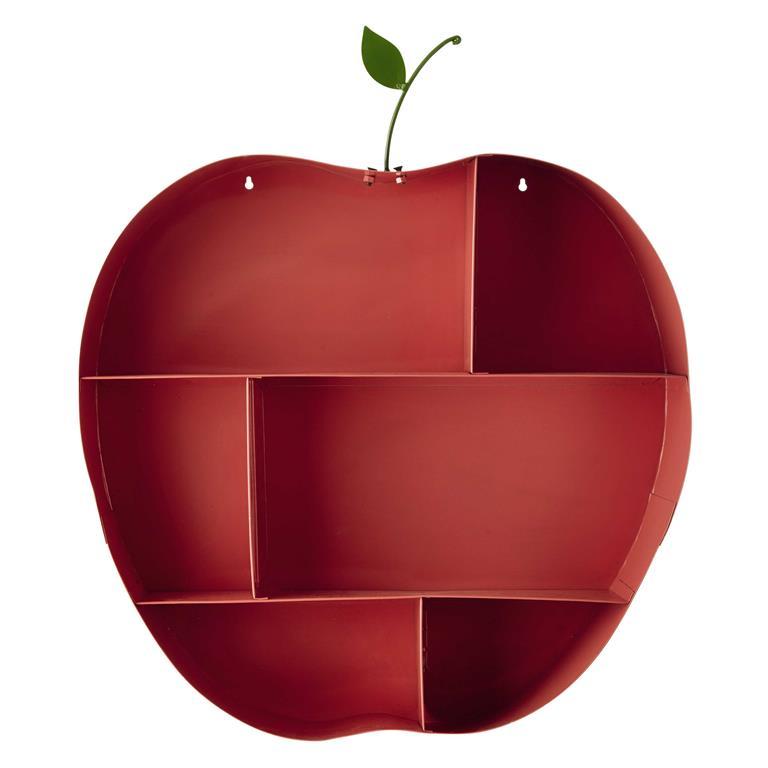 Étagère murale pomme en métal rose H 73 cm API