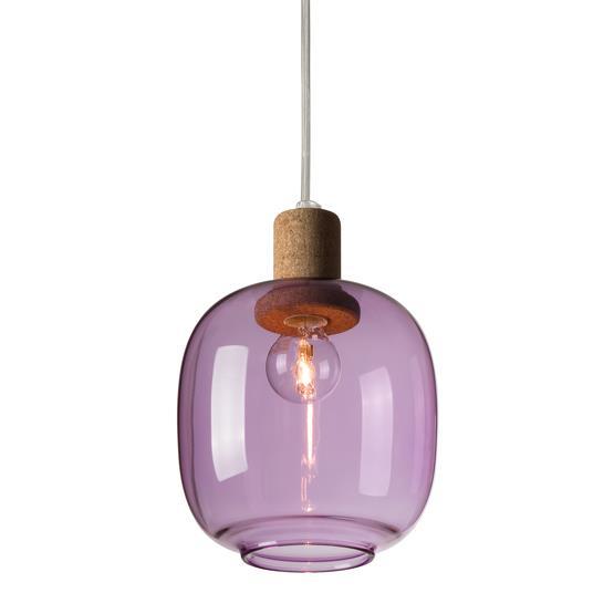 Suspension en verre violet Picia - Enrico Zanolla
