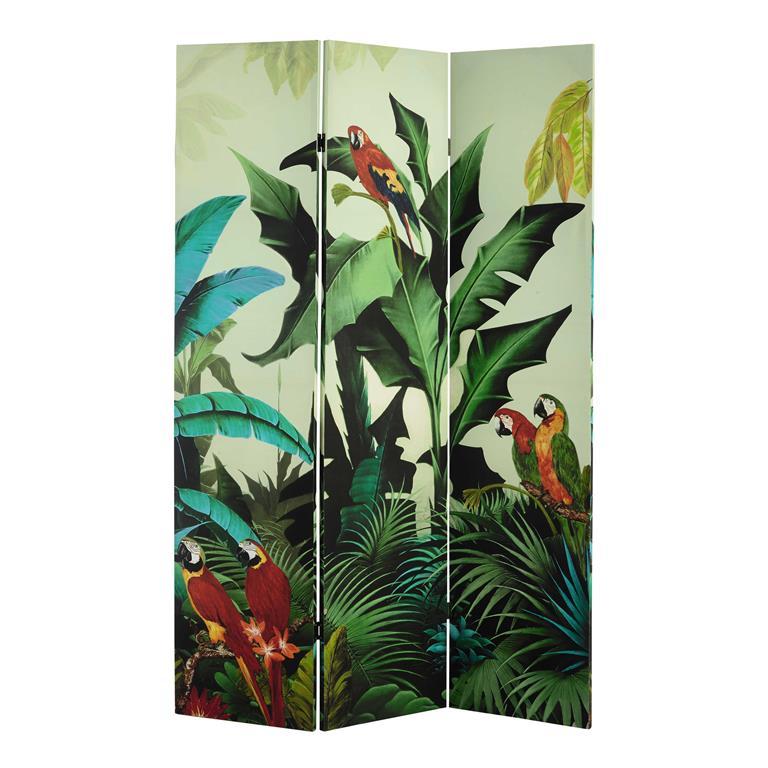 paravent imprim tropical l 121 cm santana