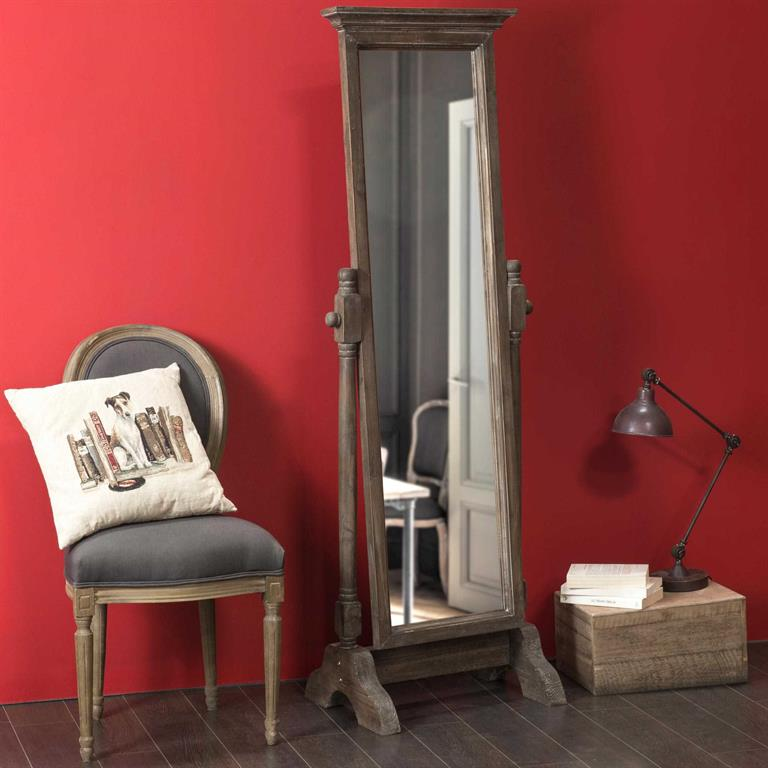 Miroir psyché en bois H 168 cm BARTHELEMY