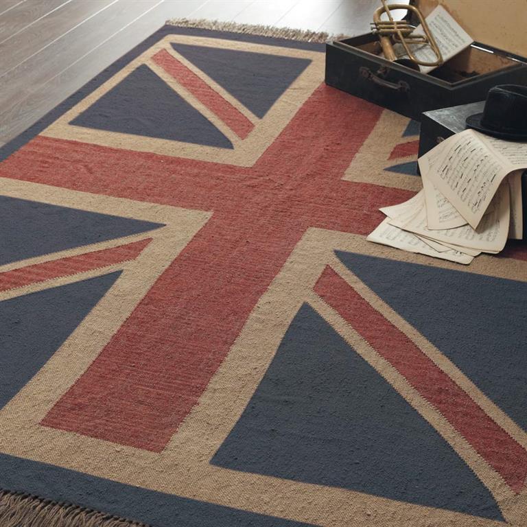 tapis poils courts en laine rouge et bleu 170 x 240. Black Bedroom Furniture Sets. Home Design Ideas