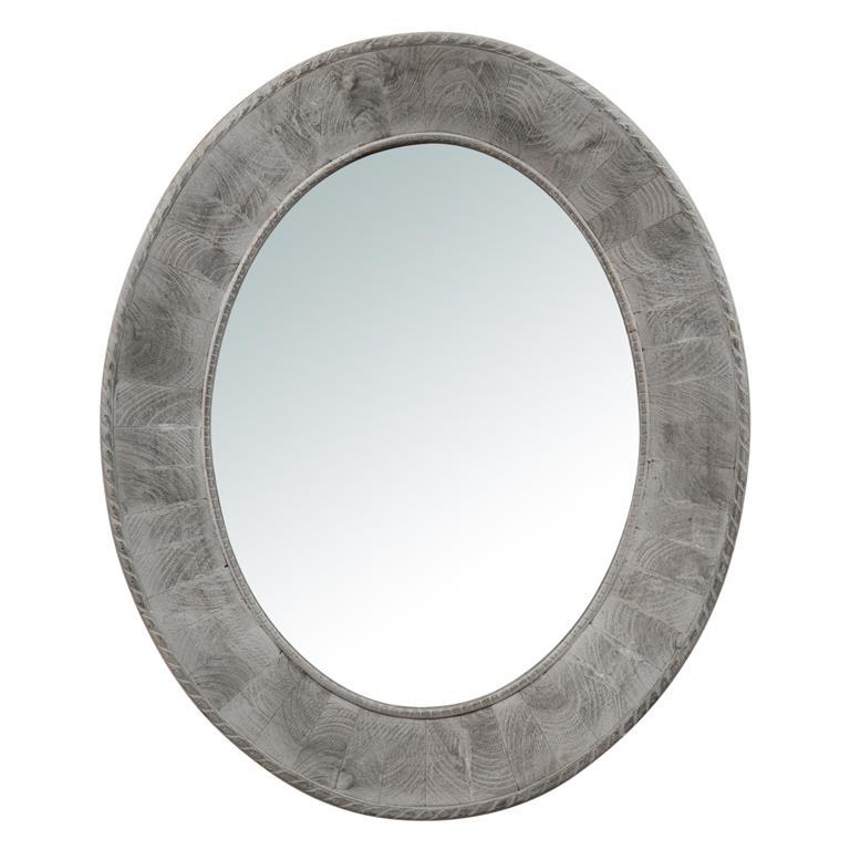 Miroir ovale gris Catherine