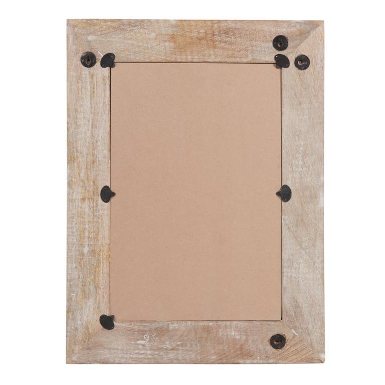 Miroir en bois blanchi H 61 cm AYDA
