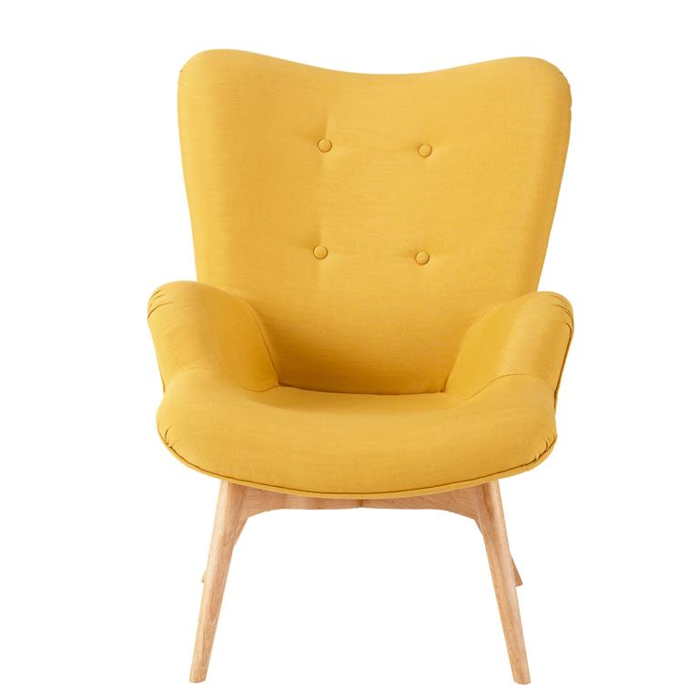 Fauteuil style scandinave jaune