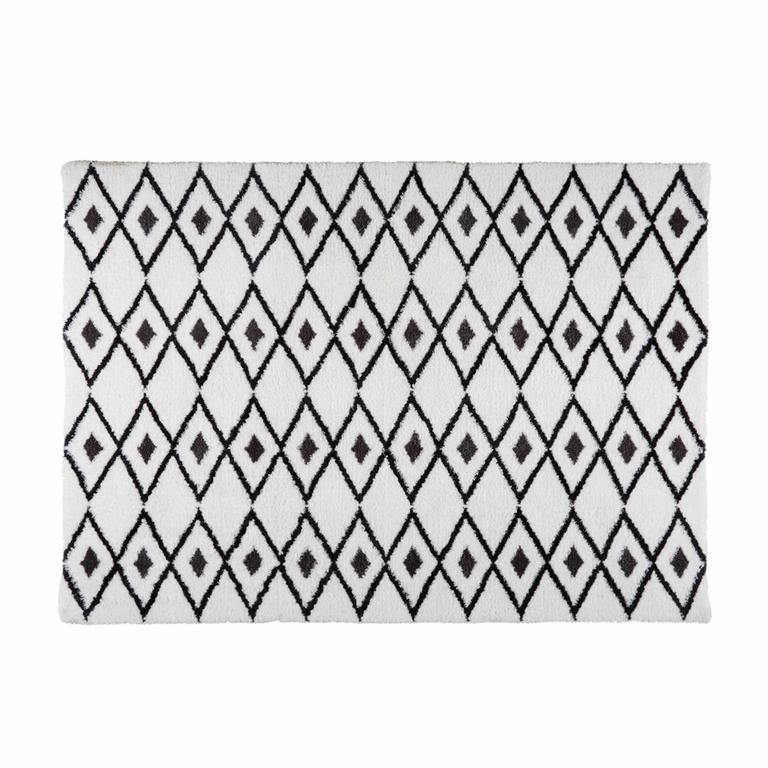 Tapis Berbere Noir Et Blanc 160x230 Jyam Maisons Du Monde