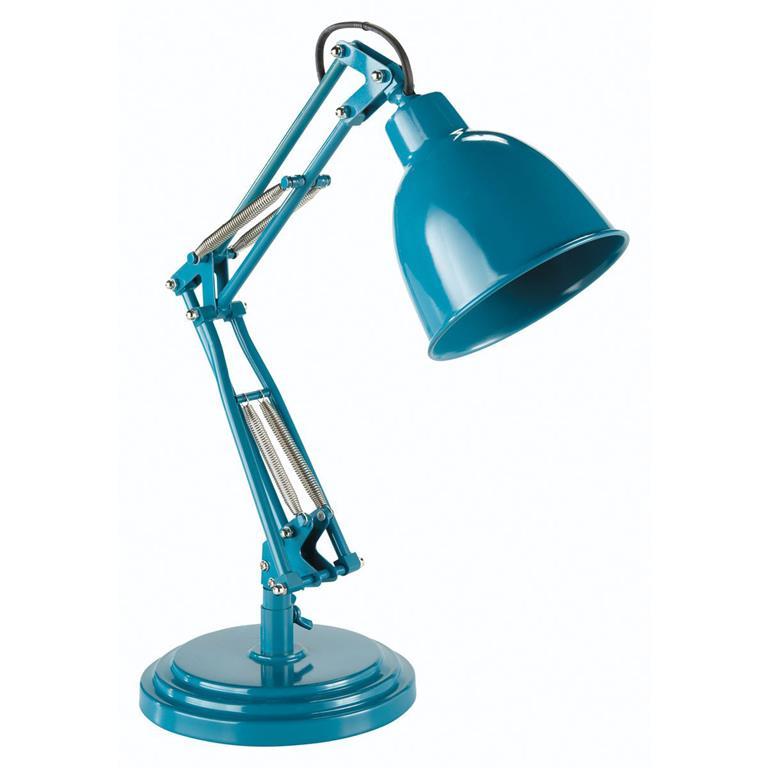 Lampe en métal bleu canard H 49 cm PATERSON