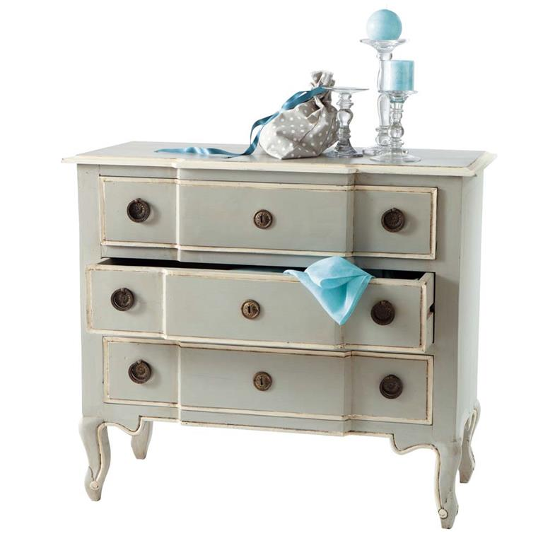 Commode en manguier grise L 98 cm Beaumanoir