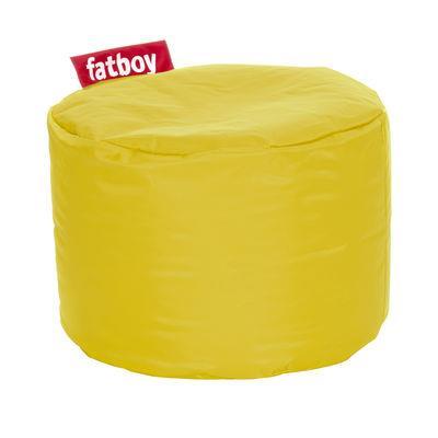 Pouf Point - Fatboy Ø 50 x H 35 cm jaune en tissu