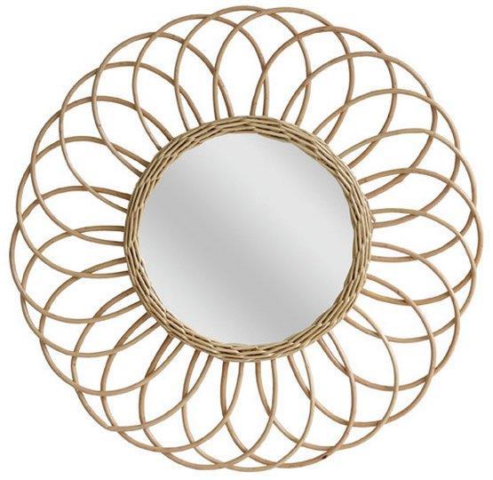 Miroir avec cadre en rotin Round - HKliving