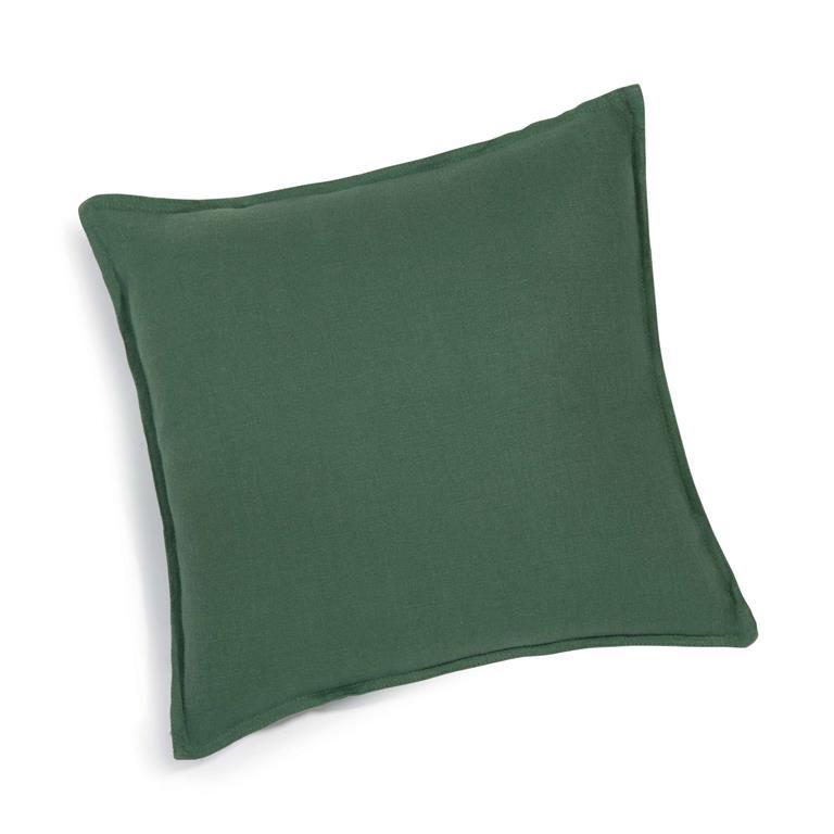 coussin en lin lav vert sapin 45x45 maisons du monde. Black Bedroom Furniture Sets. Home Design Ideas