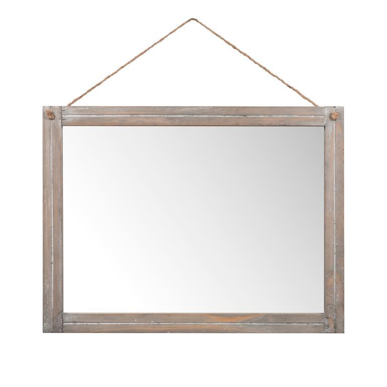 Miroir en bois H 45 cm CAMPEGNAC