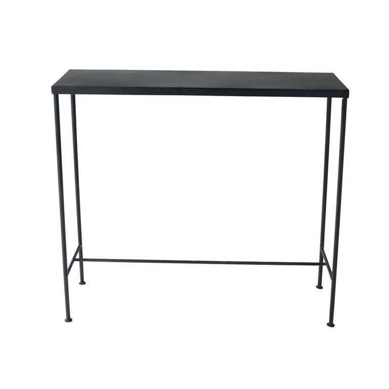 table console indus en mtal noire l 90 cm edison