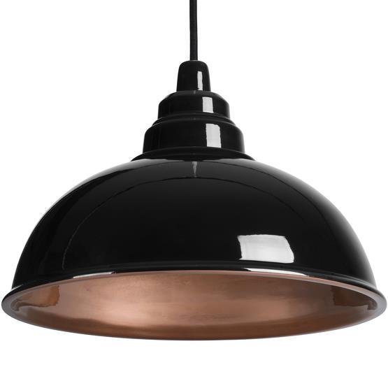 Suspension industrielle noire et cuivrée Botega - Enrico Zanolla