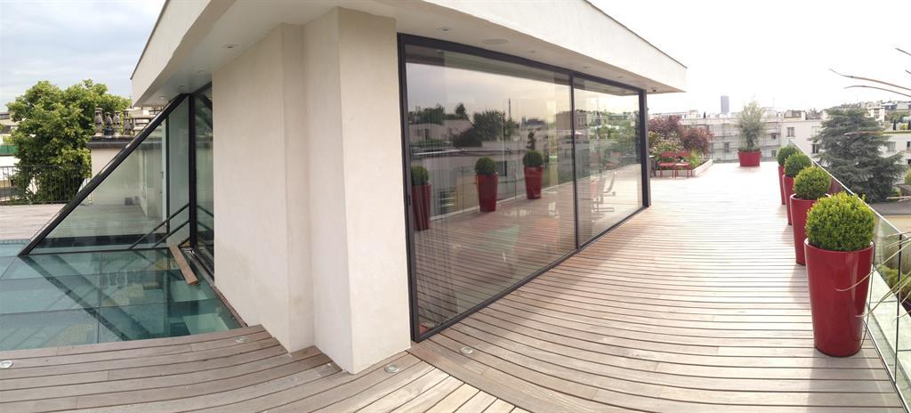 Image Vue extérieure de l''extension et la terrasse edl design