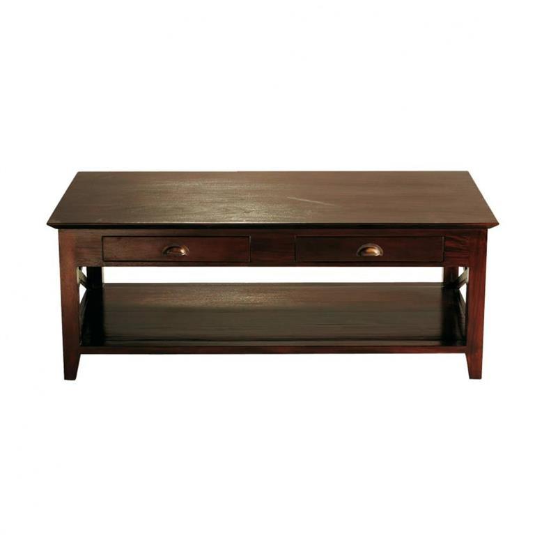 Table basse en mahogany massif L 120 cm Orient Express