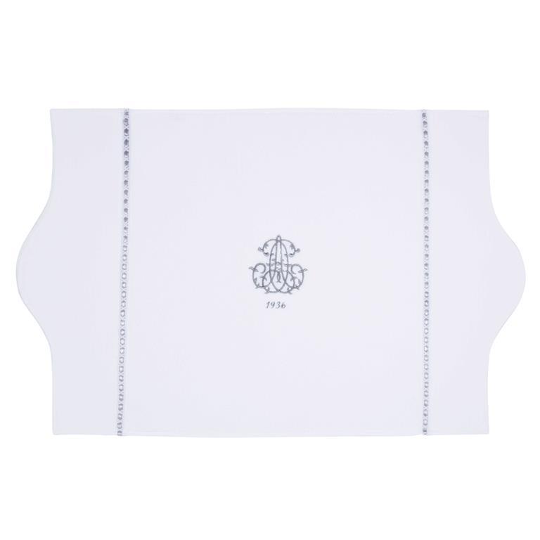 Tapis de bain en coton blanc 50 x 80 cm SIÈCLE