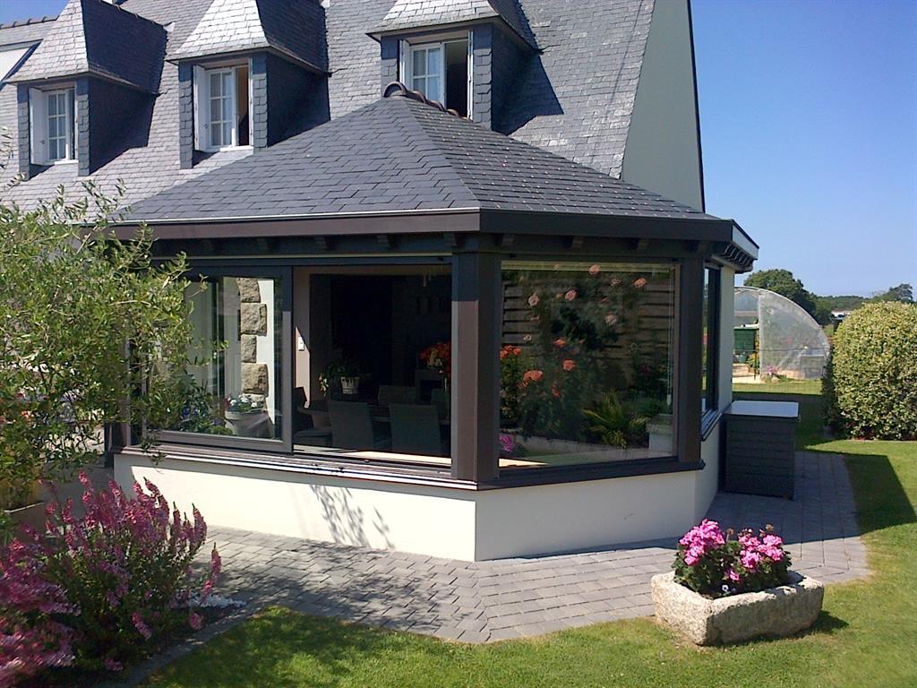 Image Vue extérieure d'une extension Vérandaline