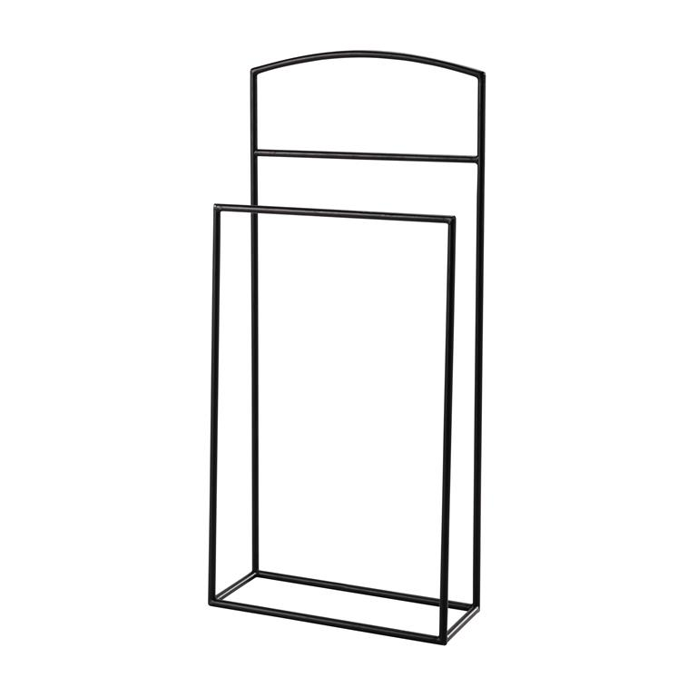 valet de chambre design Valet de chambre en métal noir ELLIOT