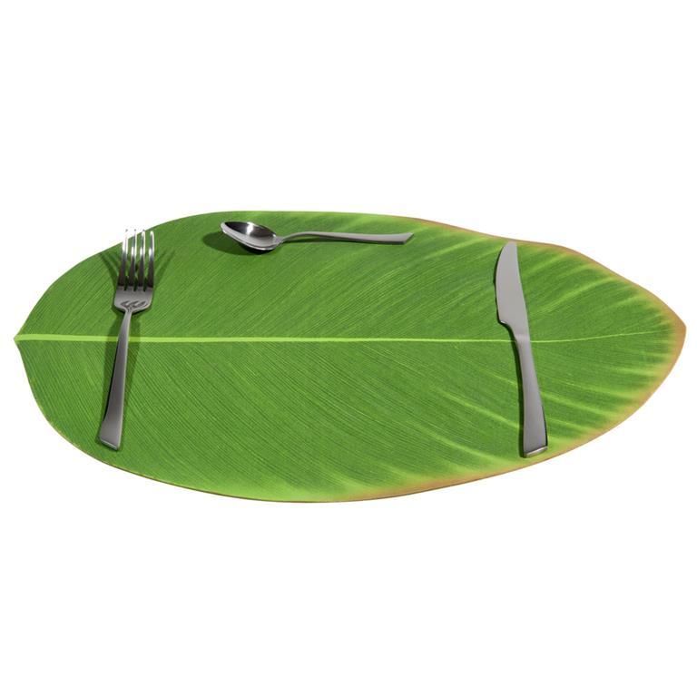 set de table feuille verte 31 x 47 cm bananier maisons du. Black Bedroom Furniture Sets. Home Design Ideas
