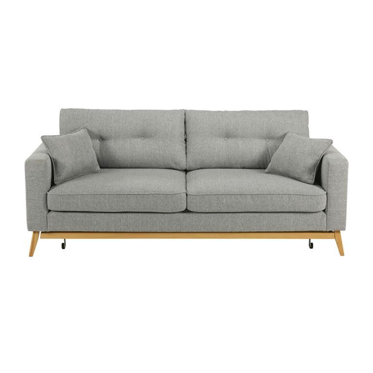 Canapé-lit style scandinave 3 places gris clair Brooke