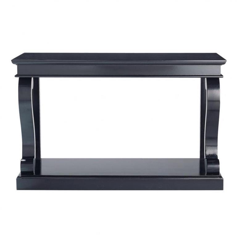 Table console en pin massif noire Octavia