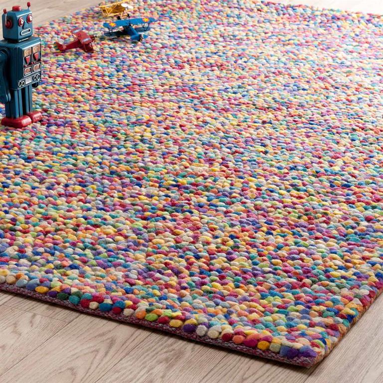 Tapis en laine multicolore 140 x 200 cm RAINBOW Maisons du monde