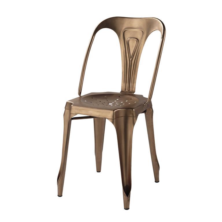 Chaise indus en métal cuivré Multipl's