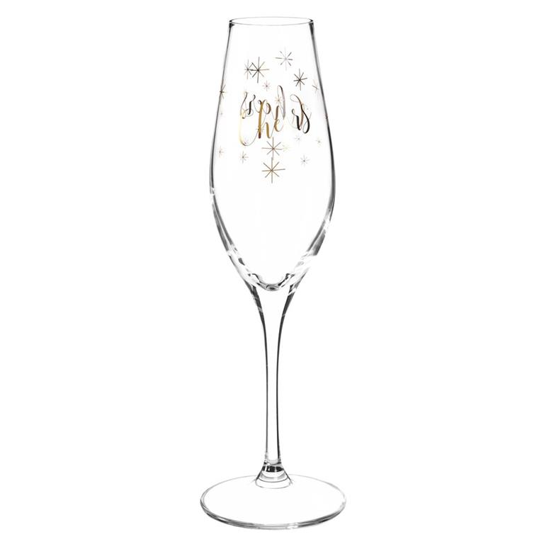 Flûte à champagne en verre CHEERS