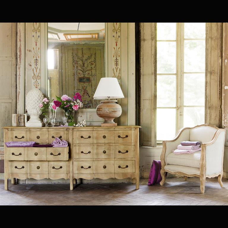 Commode en manguier et acacia Colette