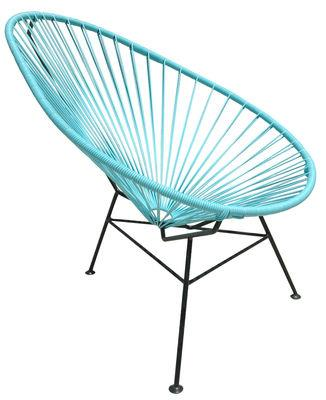 Fauteuil bas Acapulco - OK Design pour Sentou Edition turquoise en métal