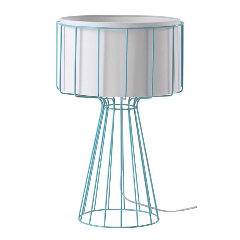 Lampe en métal bleu H 55 cm PULSE