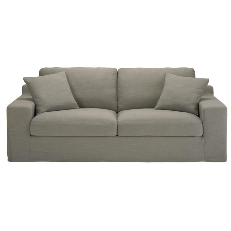 Canapé-lit 3 places gris clair Stuart