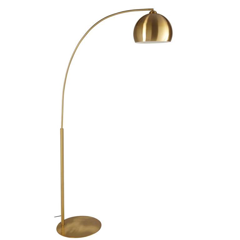 Lampadaire en métal doré H