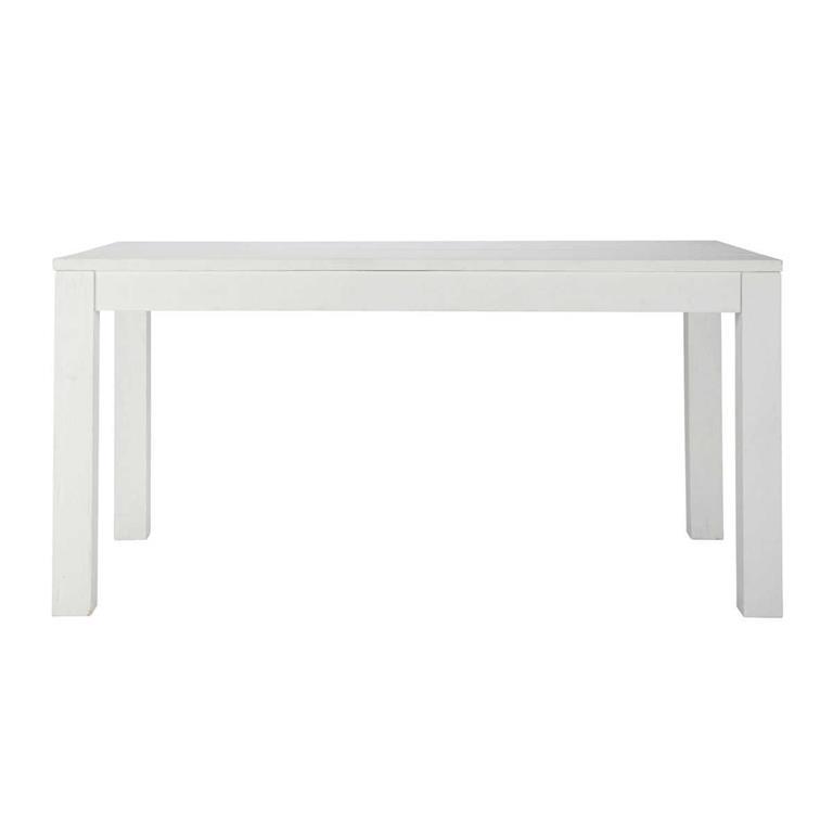 Table à manger en pin massif blanc 6/8 personnes L160 White