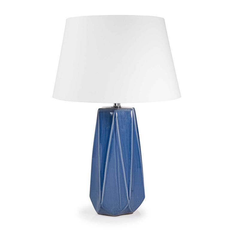 Lampe en céramique bleue H 52 cm MARINA