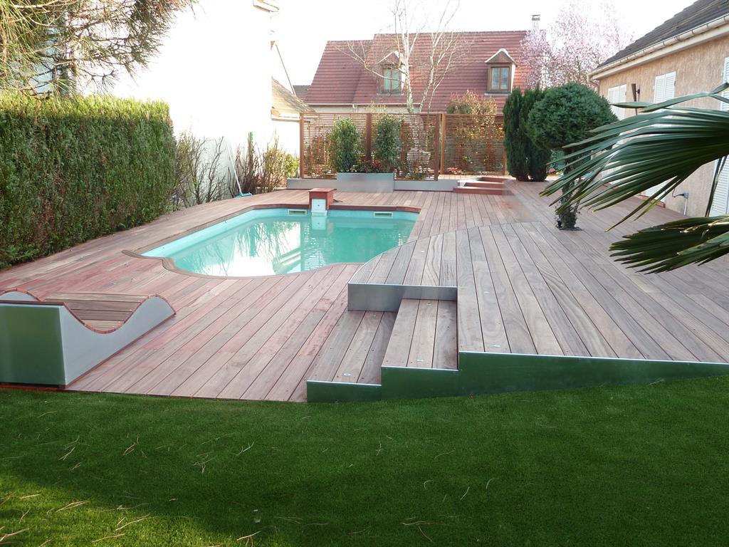 Terrasse Bois Avec Piscine Maison Design