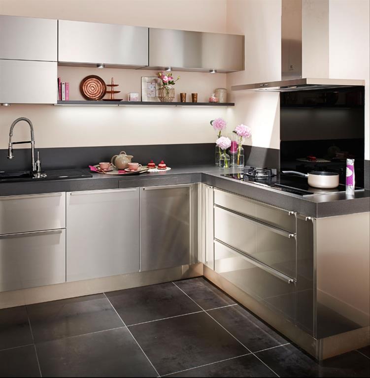 Placards de cuisine une cuisine vintage toujours dans for Placard cuisine moderne