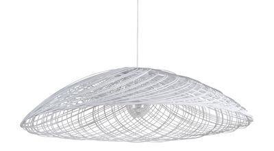 Suspension Satélise M / Rotin - Ø 60 cm - Forestier blanc