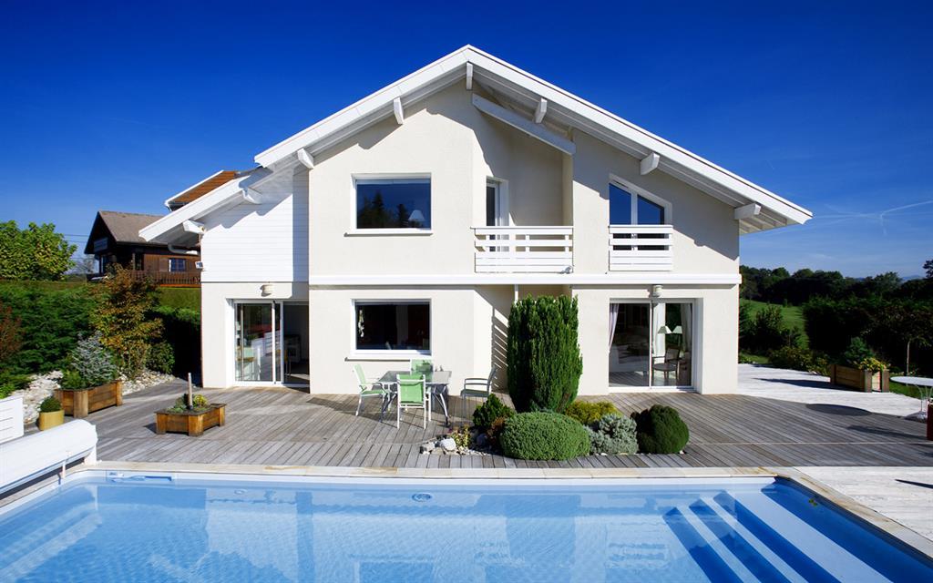 Villa Avec Terrasse : Villa avec piscine et terrasse bois Alexandre MORAND