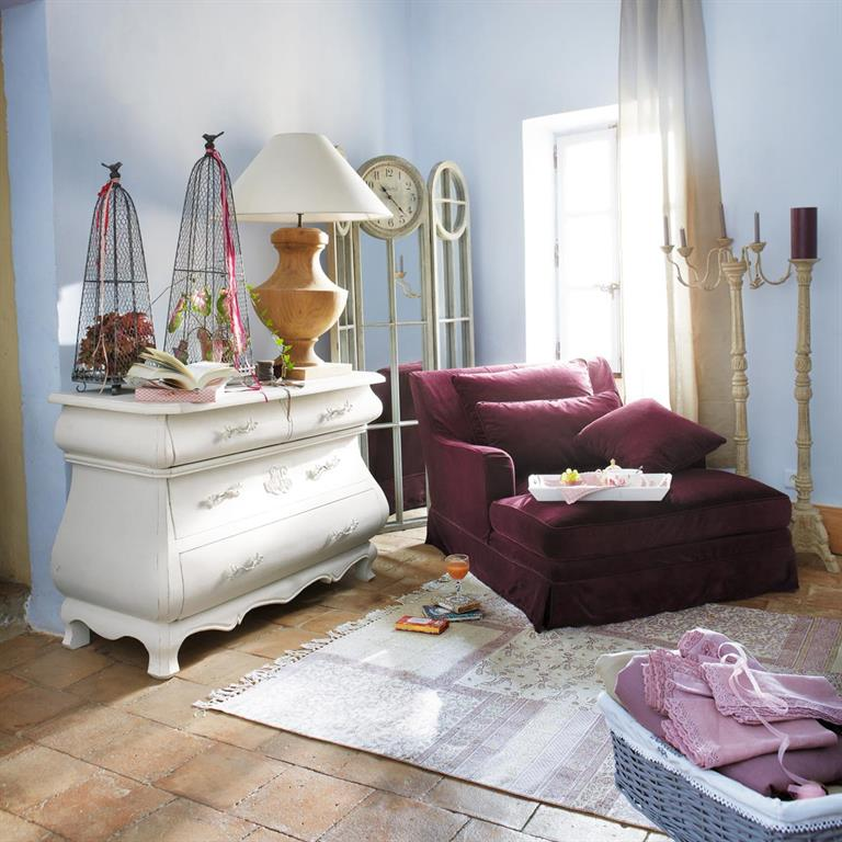 Commode en manguier blanche L 125 cm Montpensier