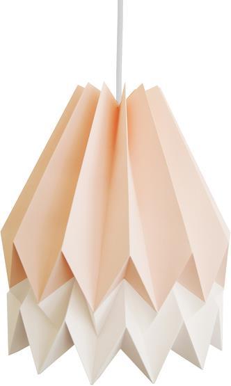 Abat-jour rose et blanc en papier - Orikomi