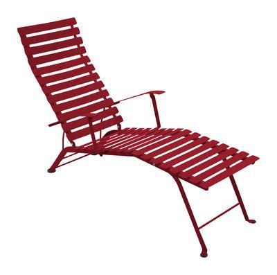 Chaise longue bistro fermob piment en m tal fermob for Bistro chaise longue