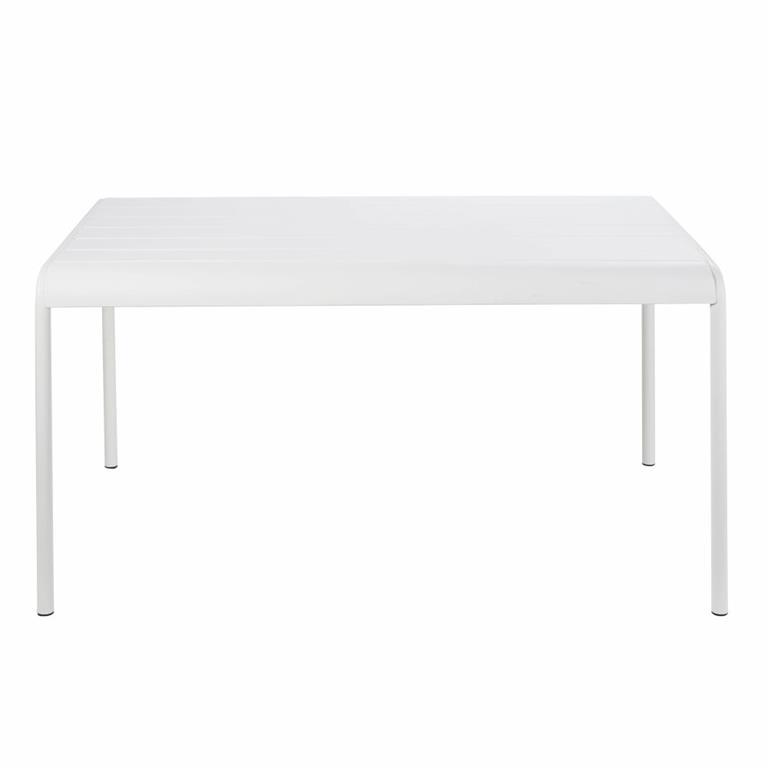 Table de jardin en métal blanc 4/6 personnes L140 Batignolles