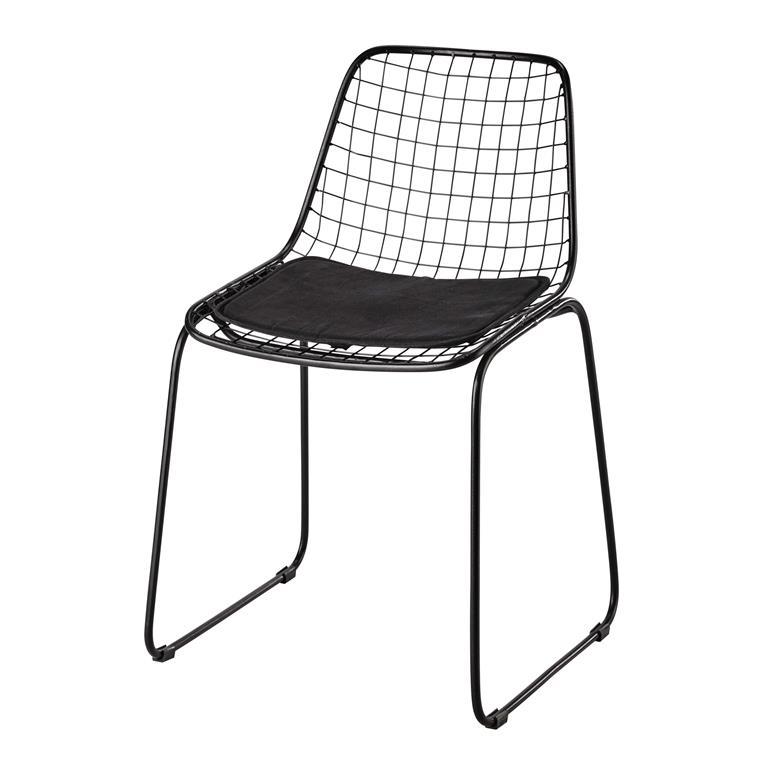 Chaise en métal noir Picpus