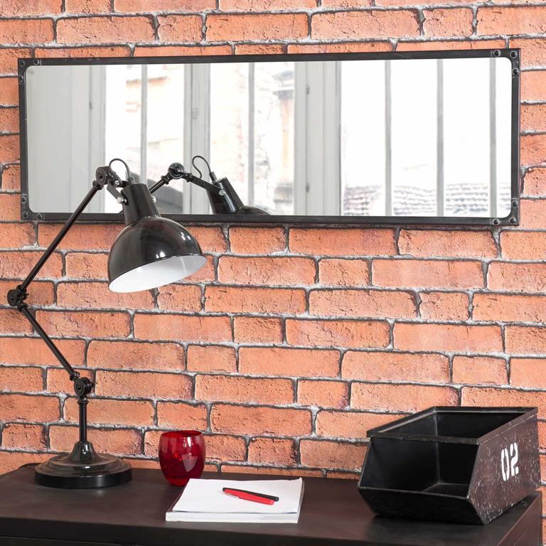 Miroir indus en métal H 100 cm NORTHSIDE