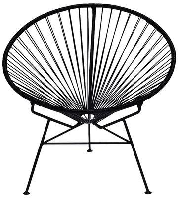 Fauteuil bas Condesa - OK Design pour Sentou Edition noir en métal